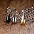Bate de béisbol En Forma de Urna de Cremación Colgante Collar de Acero Inoxidable de Plata, oro, negro