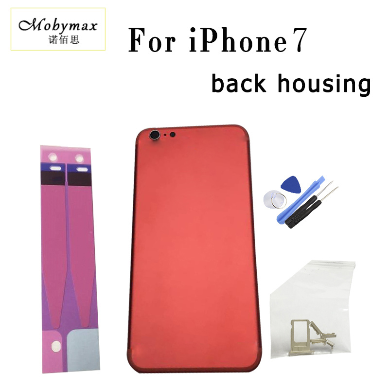 Chassis Back Housing Battery Cover Fundas Coque for iPhone7 A 1778 A1660 4.7+Buttons&Sim Tray+Sticker+Tool+Custom IMEI