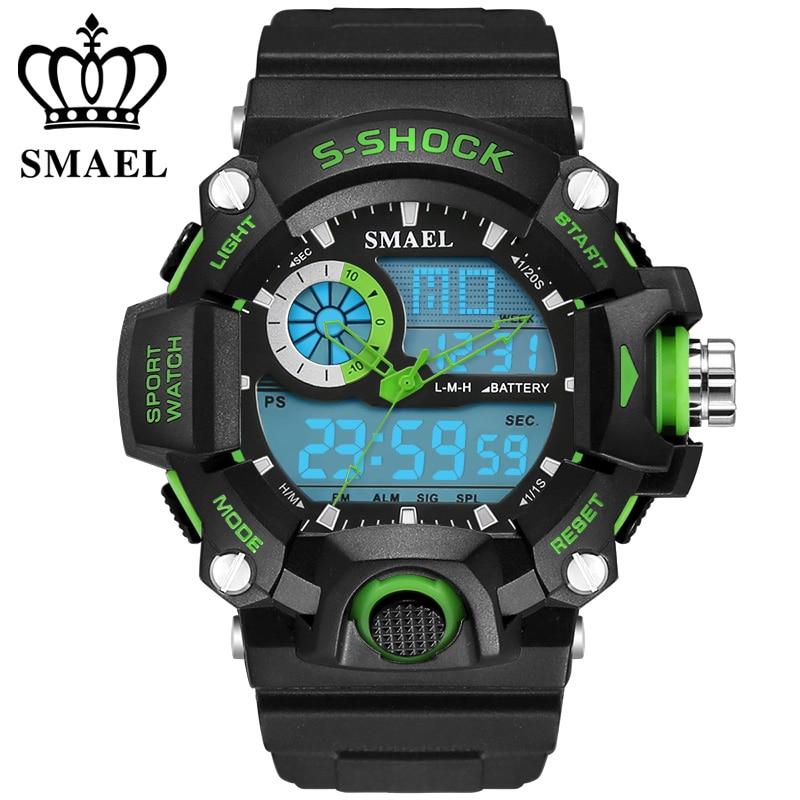 Klocka SMAEL Klockor för män Quartz Digital Mode Militär Casual - Herrklockor - Foto 4