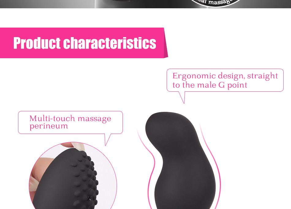 LURE 3 level Rotating speed anal plug vibrator prostate massager 15m remote control ergonomic design for Men Anal Sex Toys 18