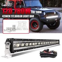 цена на CO LIGHT 3 Rows 42inch LED Bar 780W LED Light Bar Combo for Car Tractor Boat Offroad 4WD 4x4 Truck SUV ATV Driving Light 12V 24V