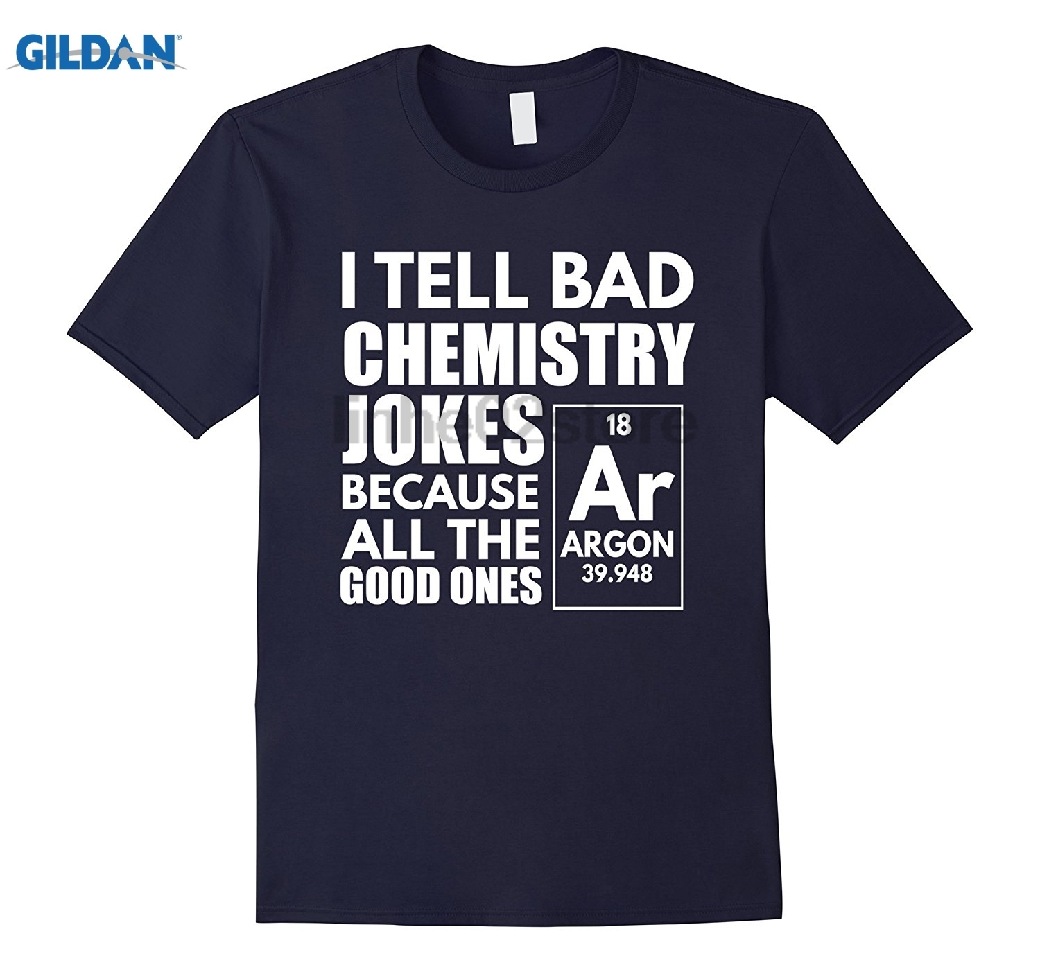 GILDAN I Tell Bad Chemistry Jokes Funny Science T Shirt sunglasses women T-shirt Womens T-shirt