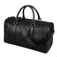 Фирменный дизайн Мода extra large выходные вещевой мешок большой натуральная кожа бизнес мужская дорожная сумка популярный дизайн duffle