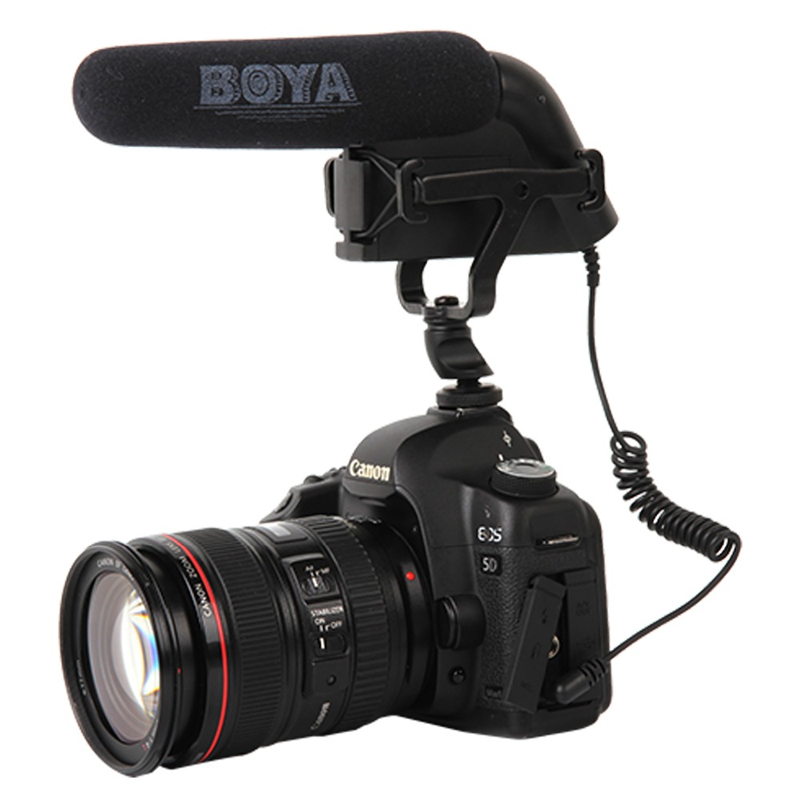 BOYA BY-VM200P Super Cardioid Video Condenser Microphone for Canon Nikon Sony DSLR SLR Camera Camcorder Studio Video Recording