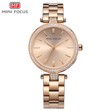 MINI FOCUS Brand Luxury Women Watches Waterproof Rose Gold Relogio Feminino Montre Femme Ladys Watch Quartz Womens Wristwatches