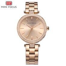 MINI FOCUS marka luksusowe kobiety zegarki wodoodporne różowe złoto Relogio Feminino Montre Femme Ladys zegarek kwarcowy damskie zegarki na rękę