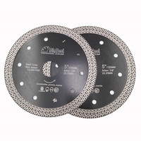 2pcs Diameter 5 Hot Pressed Sintered Mesh Turbo Diamond Saw Blade Diamond Wheel Hard Material Dry