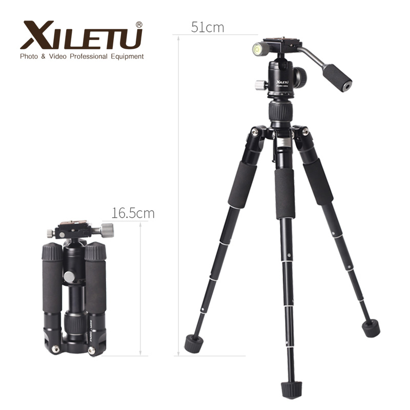 XILETU FM5C-MINI Aluminum Desktop Mini Tripod Portable For Phone Self-timer Live Tripod Camera Photography SLR Small