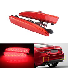 ANGRONG 2X Red LED Bumper Reflector Light For Mazda 2 3 DY Axela BK BM 5 6 CR19 Atenza GJ