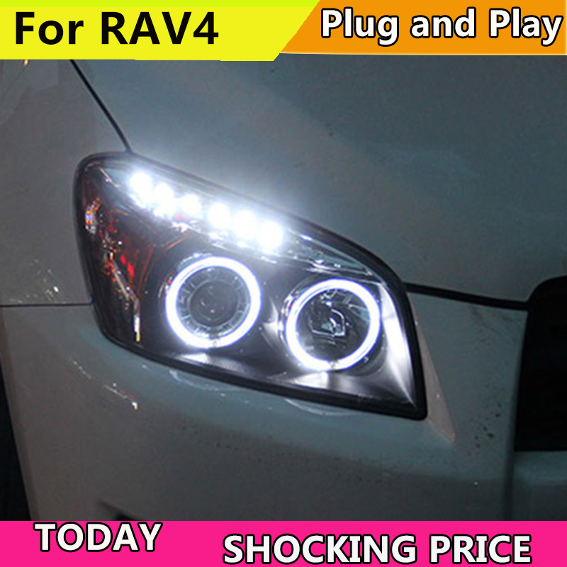 Lampe de tête de style de voiture pour Toyota RAV4 phares 2009-2013 pour RAV 4 LED Angel Eye DRL Q5 bi xénon lentille h7 xénon avant lumière