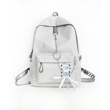 купить 2018 Brand Canvas Women Backpack Modern Quality Beige Black Red Pink Bow Schoolbag For Teenage Girl Mochila Escolar Laptop Bag дешево
