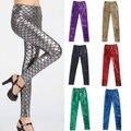 Fashion 2015 Fit Hot Womens Fashion Scale Fish Leggings Mermaid Skinny Stretch Pants Trousers Free Shipping