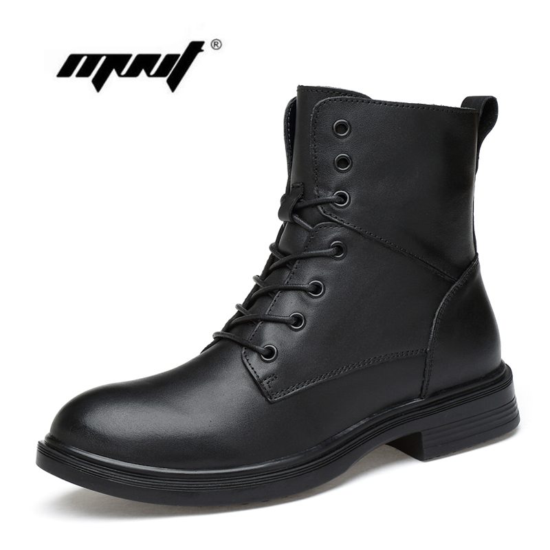 Top Quality Men Snow Boots Real Leather Boots Two Style Men Shoes Handmade Plus Size Autumn And Winter Shoes plus size button detail two tone top