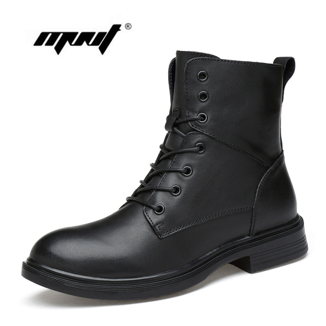 Top Quality Men Snow Boots Real Leather Boots Two Style Men Shoes Handmade Plus Size Autumn And Winter Shoes Dropshipping