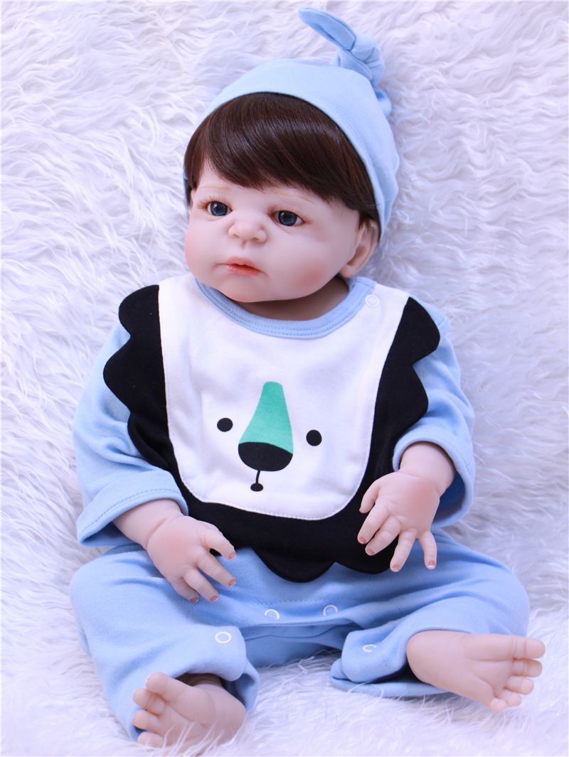 Bebe  22 NPK full silicone reborn baby dolls lifelike boy girl dolls reborn child real doll toys  bonecasBebe  22 NPK full silicone reborn baby dolls lifelike boy girl dolls reborn child real doll toys  bonecas