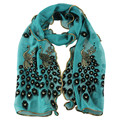 Women's Fashion Handmade Lace Peacock Scarves Chiffon Scarf Women Long Soft Wrap Shawl Stole Gift A1015