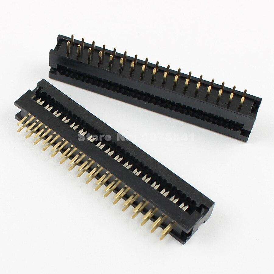 100 Pcs Per Lot 2 54mm Pitch 2x17 Pin 34 Pin Male Header IDC Ribbon Cable