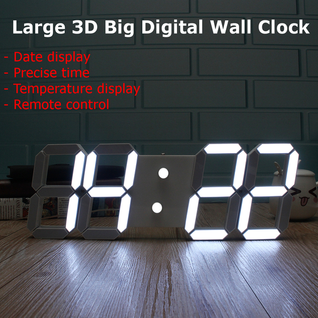 Charminer Large Led Digital Wall Clock Modern Design Show Countdown Wall Watch In The Living Room Remote Control Top Quality