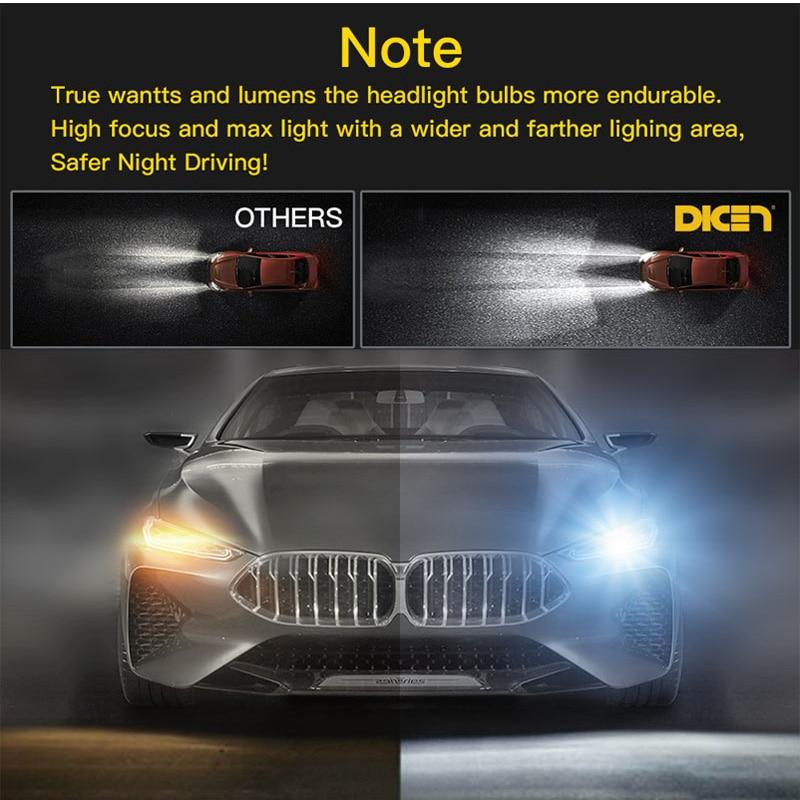 Image 3 - 2 шт. 4 стороны светодиодный лампы H1 H11 H4 светодиодный H7 12 V автомобиль свет HB4 9005 9006 9004 9007 9012 880 881 H27 H13 лампочка для передних фар 6500 K-in Передние светодиодные фары для авто from Автомобили и мотоциклы
