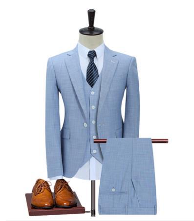 Costume Homme Peak Lapel Best Man Bridegroom Tuxedo Suit Men's Wedding Prom Suits Three Piece Terno Masculino Trajes De Hombre