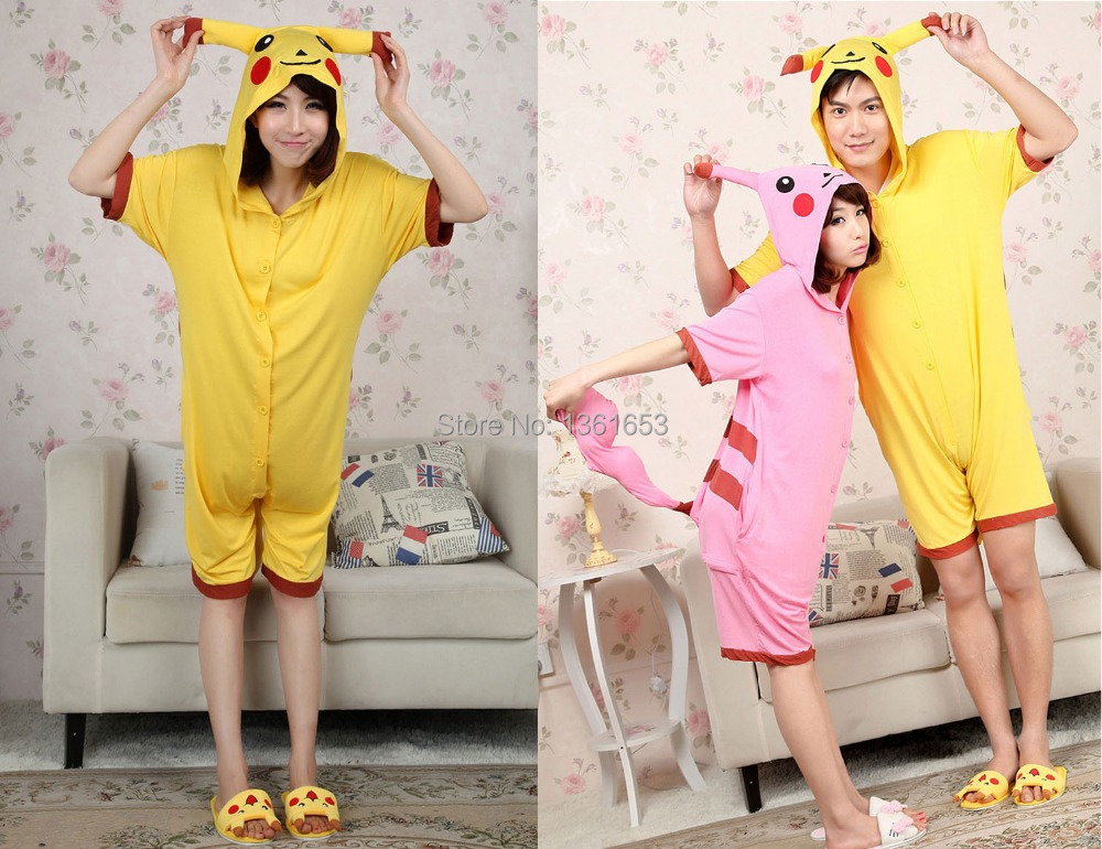 Halloween pajamas party for men and women pikachu cosplay cos home pijamas couper sleepwear