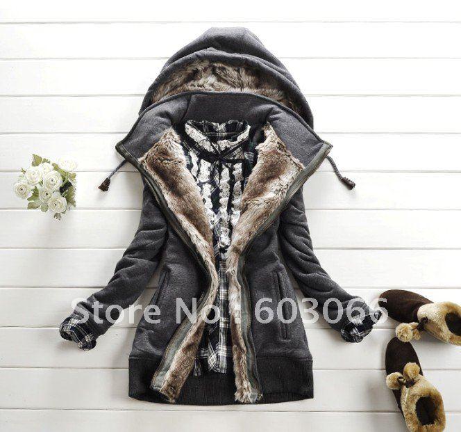 Горячая распродажа женщин зима теплая длинное пальто одежда / куртки теплые размер s, м