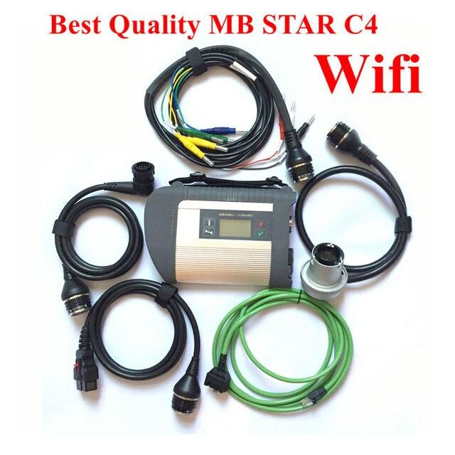 Big Promo Full chip MB STAR sd C4 car diagnostic scanner tool 2018.09 Mb star C4 sd connect for 12V/24V auto diagnostic scanner Free Ship