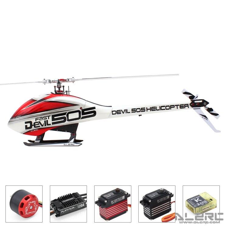 ALZRC-diable 505 hélicoptère rapide FBL Super Combo-120A V4 ESC