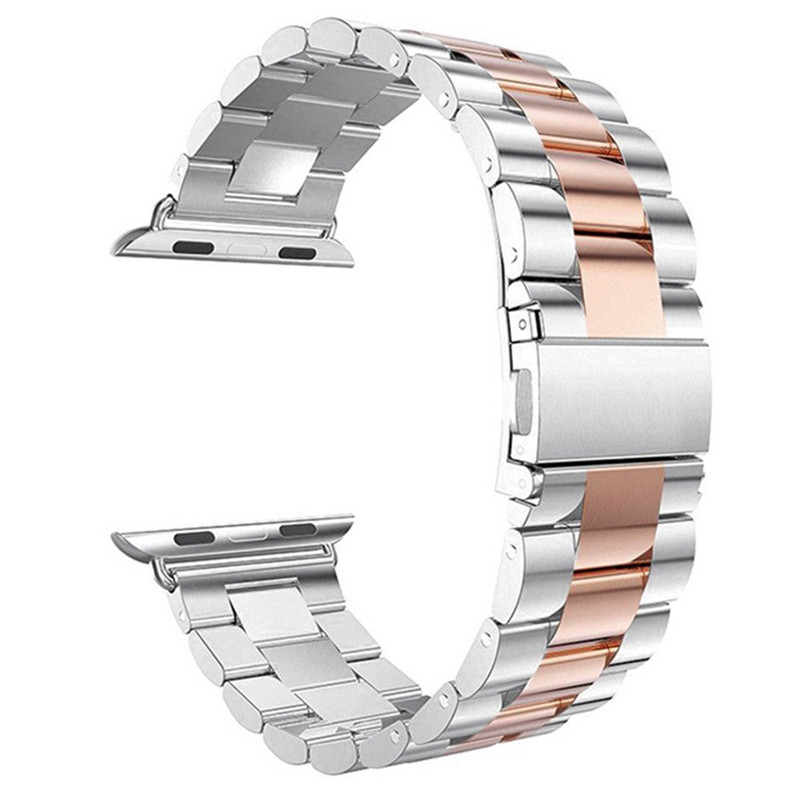 Image 5 - Metal Link Bracelet Band for Apple Watch 5 4 44mm 40mm iwatch series 1 2 3 42mm 38mm Milanese Watchband Stainless Steel Strap-in Smart Accessories from Consumer Electronics