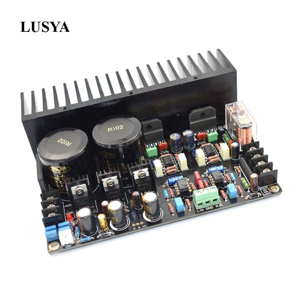 Lusya LM3886 Hifi Power Amplifier Board DC SERVO 5534 Independent op amp Amplifier finished board 68W*2 E5-001 стоимость
