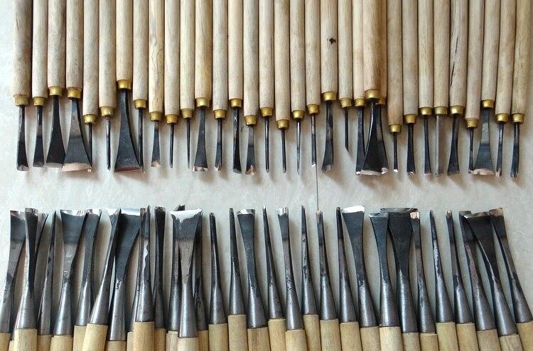 Бесплатная доставка, 62 шт. ручная резьба по дереву инструменты чип 31 шт. деталь долото + 31 шт. общие зубило, сделано и землю вручную