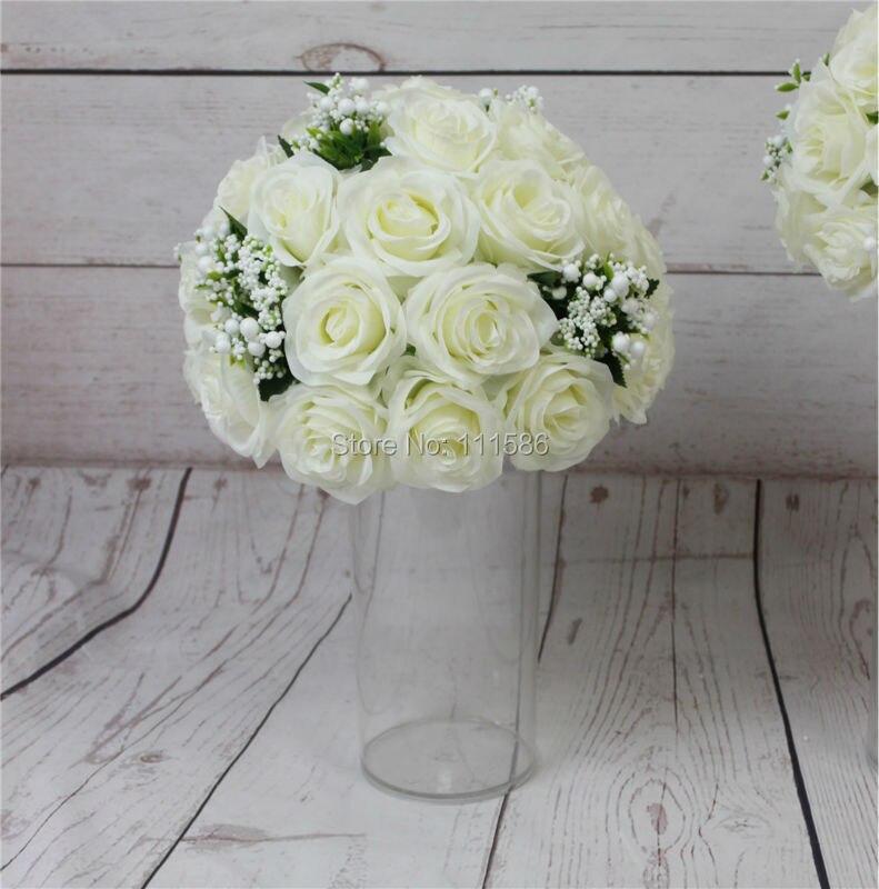 SPR high grade 10pcs lot wedding road lead artificial wedding table flower center flower ball decoration