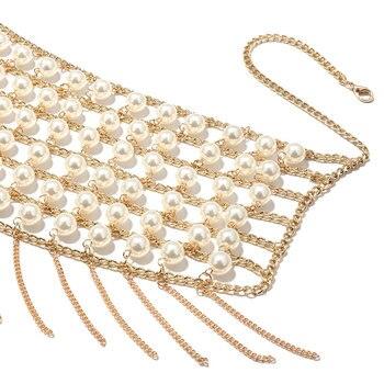 Pearl Metal Tassel Bustier  5