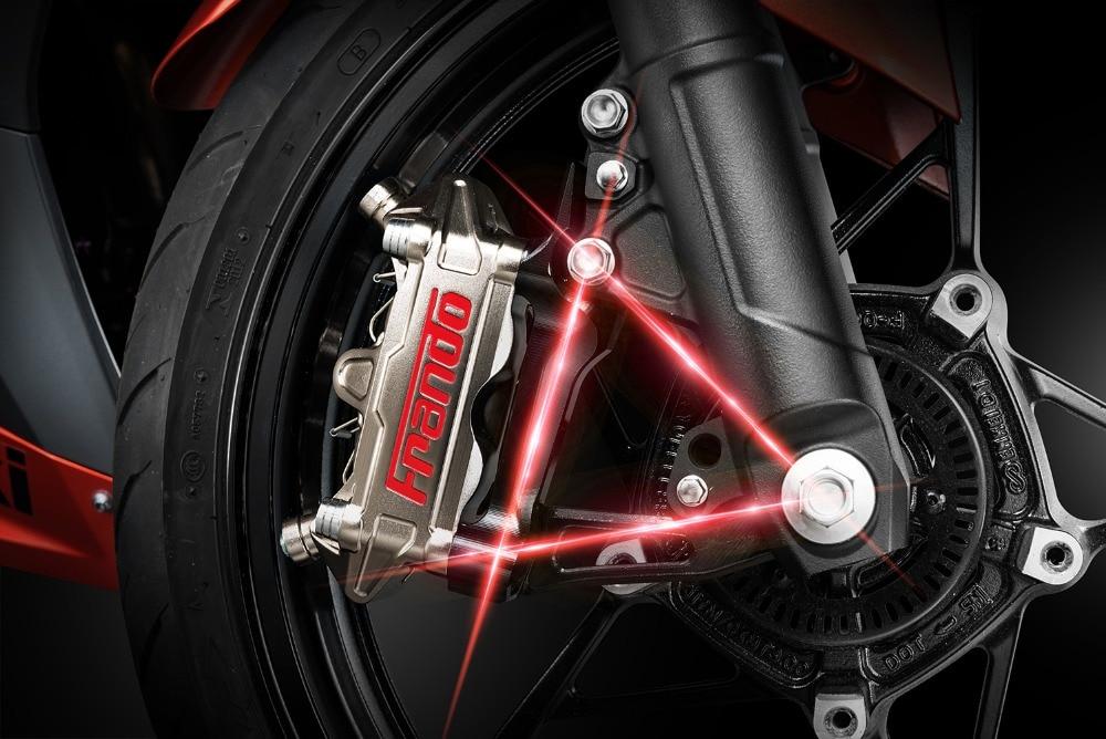 Image 3 - Frando CNC aluminim alloy brale caliper bracket For kawasaki Ninja 400 Motorcycle modifivation 100mm brake caliper bracket-in Brake Shoe Sets from Automobiles & Motorcycles