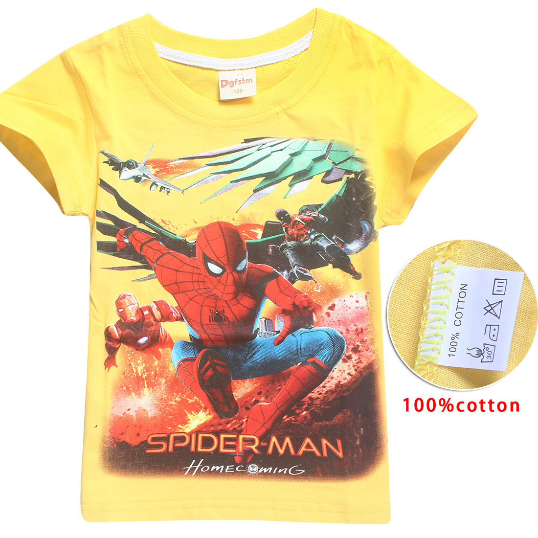 Spider-man Short Sleeve t shirt Batman v Superman Movies Printing Boys Clothes T-Shirts For Boys Kids Baby Children's Clothing