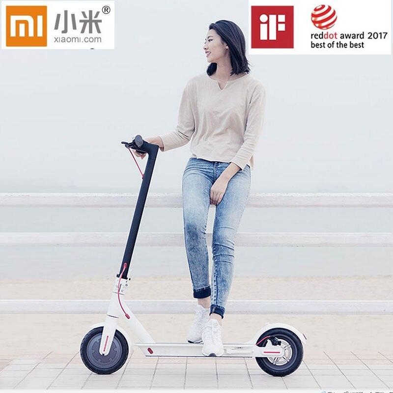 Xiaomi Mijia M365 APP scooter électrique intelligent pliable 30 km kilométrage avec siège pour enfants Xiaomi planche à roulettes pour les adultes
