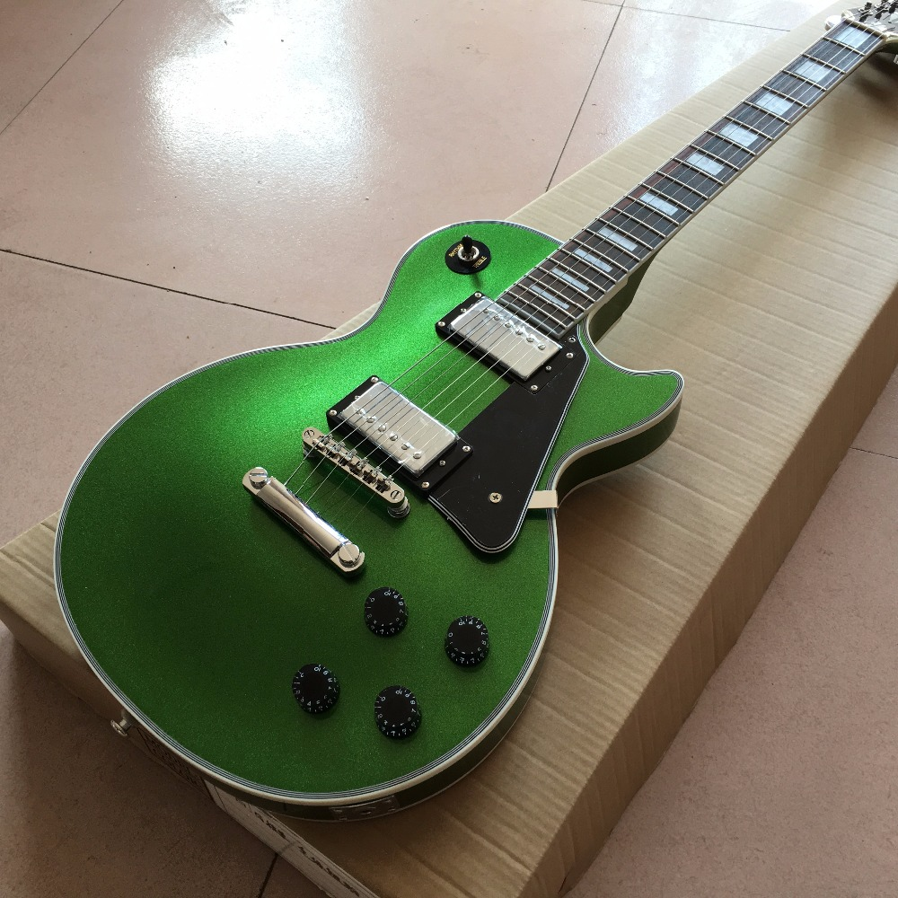 New arrive Custom Shop green top standard Electric Guitar Real photo shows