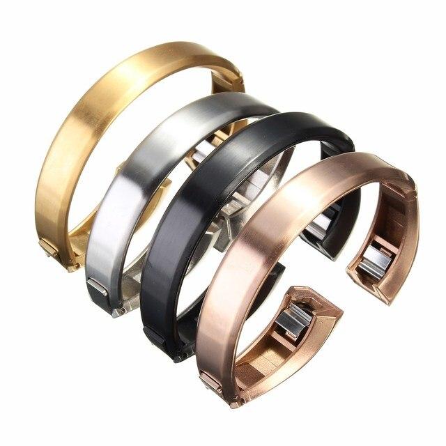De alta Calidad de la Marca de Lujo de Oro Correa de Reloj de Metal de Acero Inoxidable Excelente Correa de Muñeca Para Fitbit Alta Tracker Reloj Accesorios