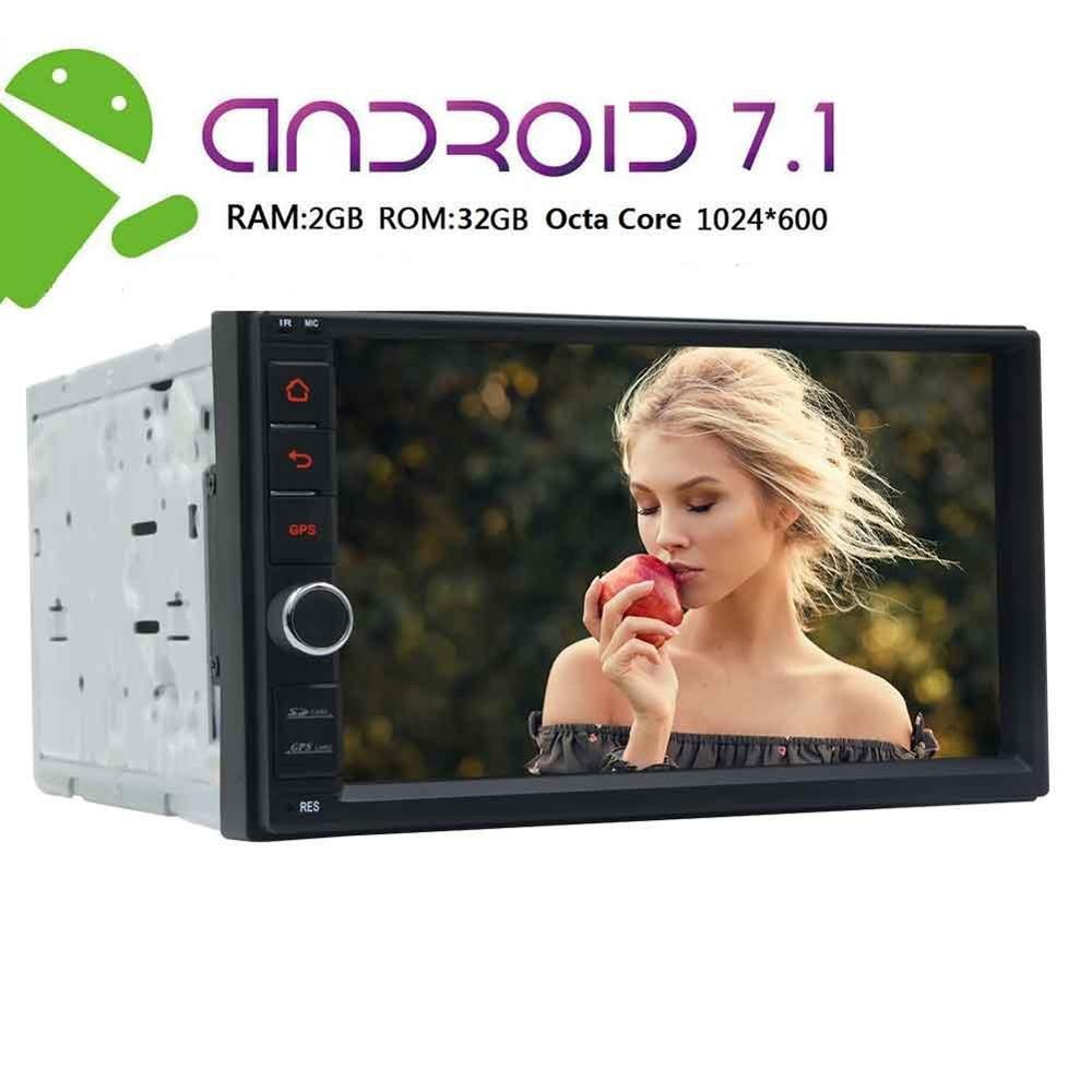 Android 7 2Din Bluetooth Dual Cam-IN Car Stereo Receiver, Wi-Fi Web Browsing, App Download, Subwoofer, GPS, Mirrorlink, SWC image