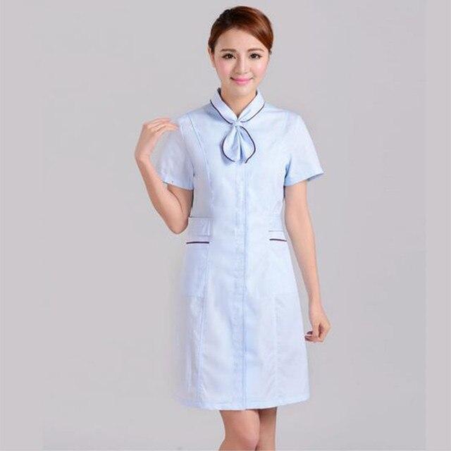 Nurse Uniform Hospital Lab Coat Scrubs Women Short Long Sleeve Medical Dress Uniformes Clinicos