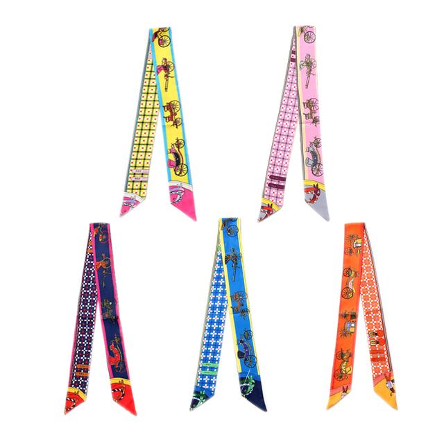 (Set 5) Bright Ribbon Skinny Scarf | Neck Scarves
