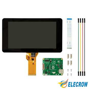 Elecrow Raspberry Pi 3 Display Touch Screen 7 Inch 10 Finger Monitor LCD TFT 800 x 480 Easy Use Display for Raspberry Pi 3B 2B+