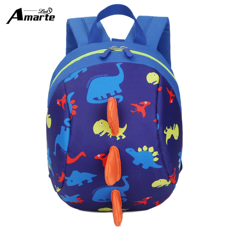 2017 New Anti-lost Kids Bags Backpack Cute Cartoon Animal Printing Children Backpacks for Boy Girls Kindergaden School Backpacks