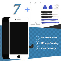 For IPhone 7 LCD Display With 3D Touch Screen Black White Replacement Digitizer Assembly With Installation