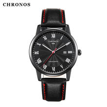 2019 CHRONOS Fashion Watch Men Sport Quartz Clock Mens Watches Top Brand Luxury Business Waterproof Watch Relogio Masculino men watch top luxury brand chronos fashion clock pu leather strap waterproof multifunction quartz wristwatches gift hot sale