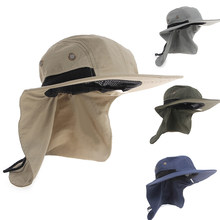dde465895c477 Cycling Cap Boating Hiking Outdoor Hat Brim Ear Neck Cover Sun Flap Cap  Polyester Adjustable 55-63 cm gorra ciclismo