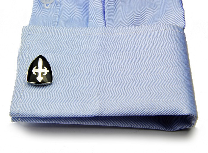 SPARTA Stainless steel + Enamel Cuffliks knight shield men's Cuff Links + Free Shipping !!! metal buttons