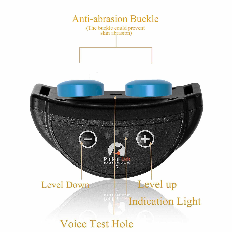 7 poziomów regulowany elektryczny pies kora obroża elektryczna humanitarny anty ścieranie kora kołnierz akumulator dla małych i średnich psów