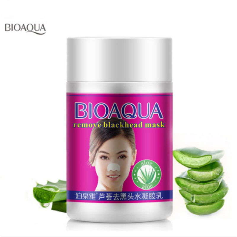 Bioaqua Skin Care Aloe Nose Mask Anti Acne Treatment Blackheads Skin Whitening Face Mask Black Head Remover Deep Cleansing Pores