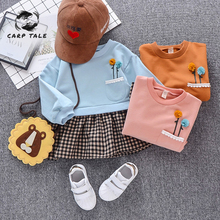 цены на 2019 girls new spring children's cotton long-sleeved dress cotton princess dress children spring and autumn children's clothing  в интернет-магазинах